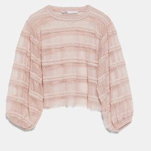 Zara Sheer Pink Top